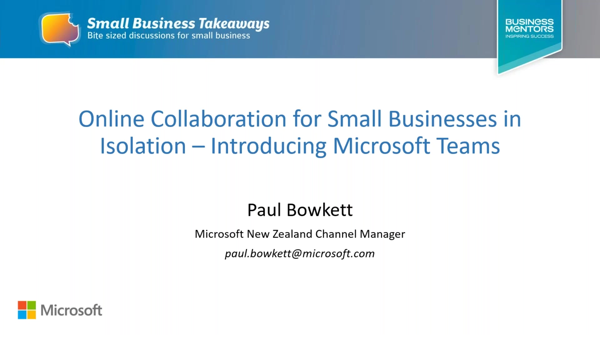 Business Mentors New Zealand_ Online Collaboration for Small Businesses in Isolation - Introducing M