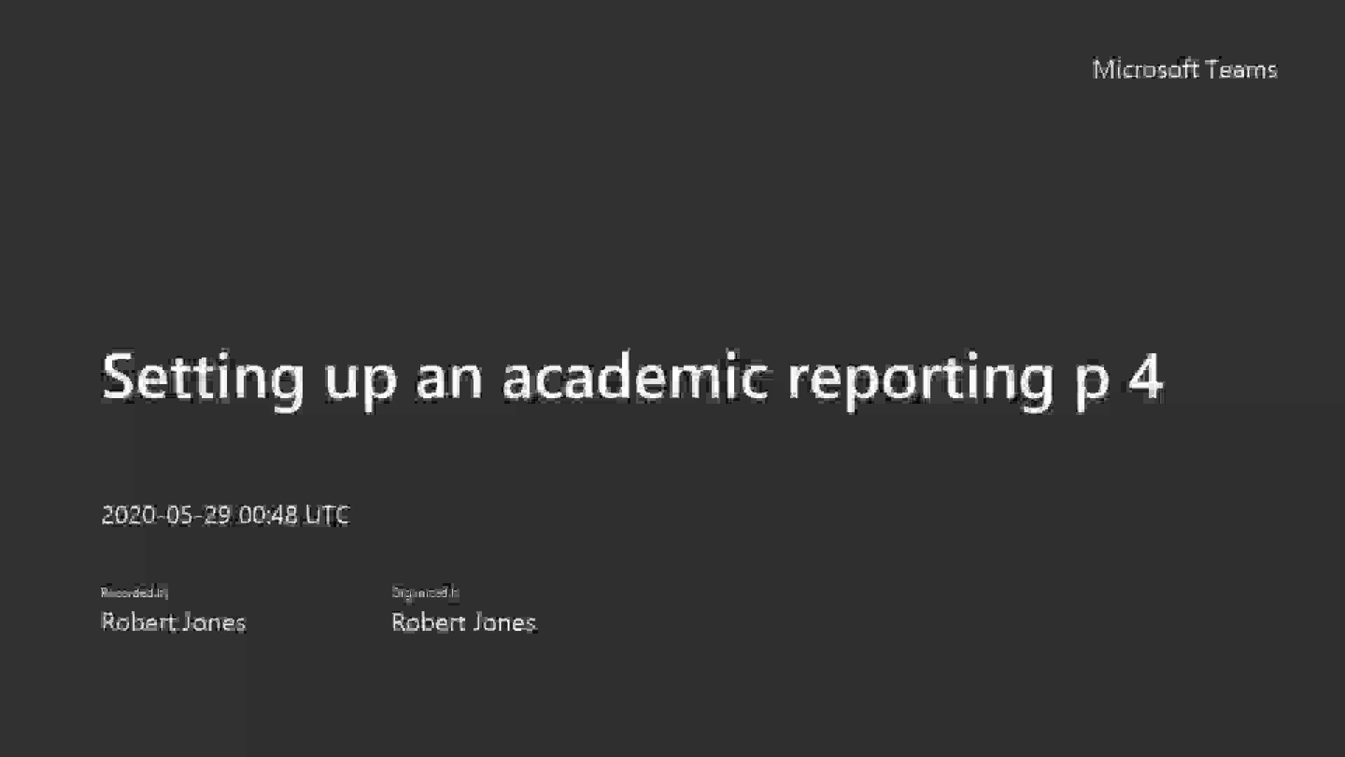 3.1 Setting up an academic reporting period