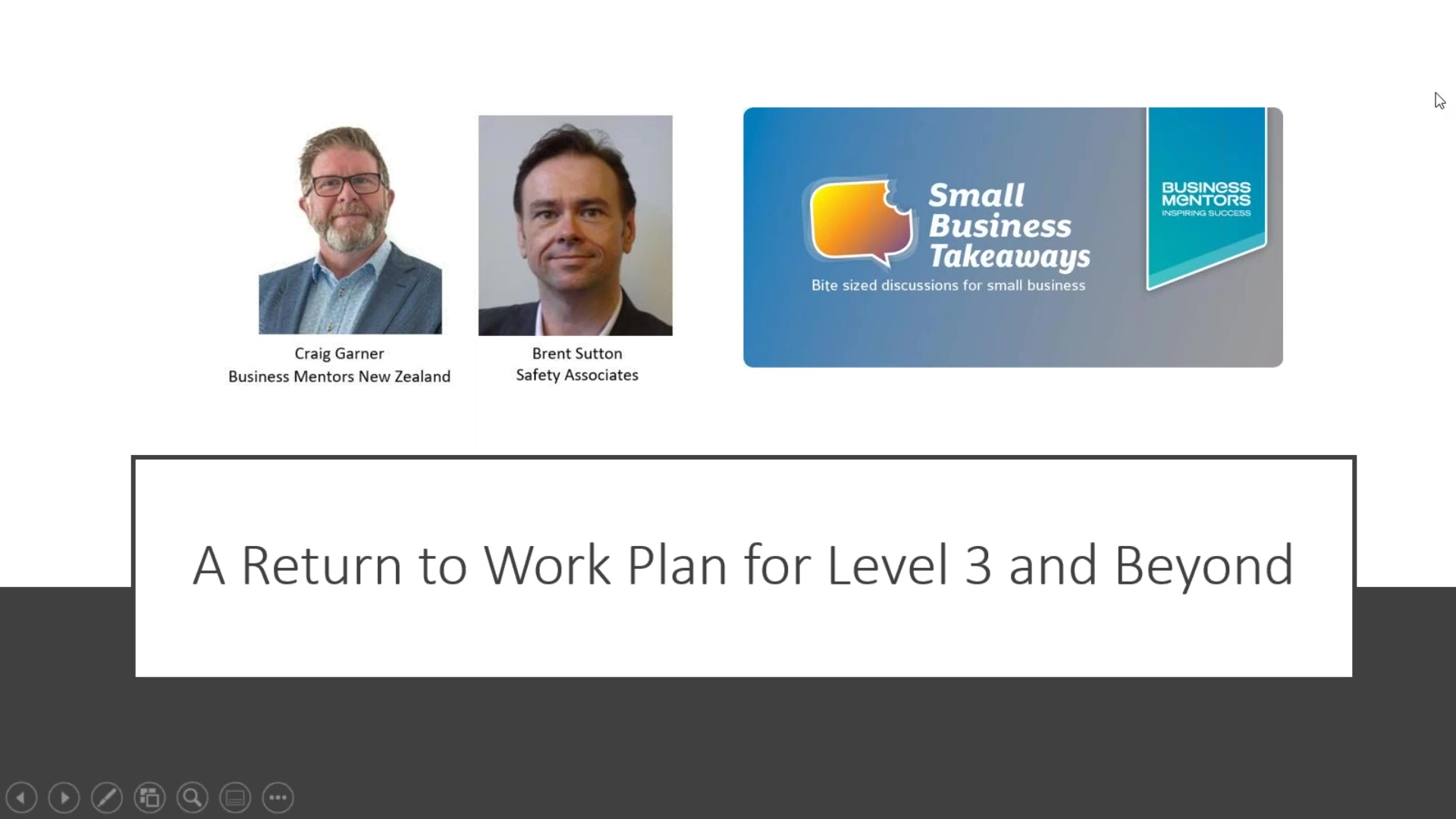 BMNZ SBT Your Return to Work Plan for Level 3 and Beyond