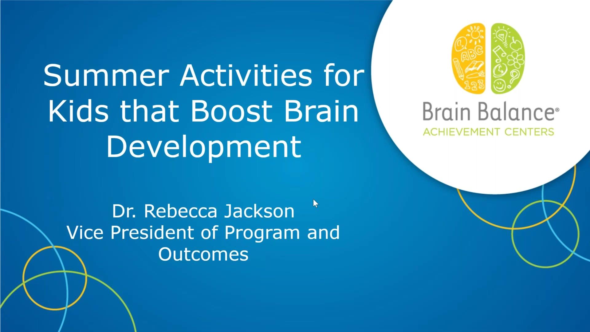 Summer Activities for Kids that Boost Brain Development
