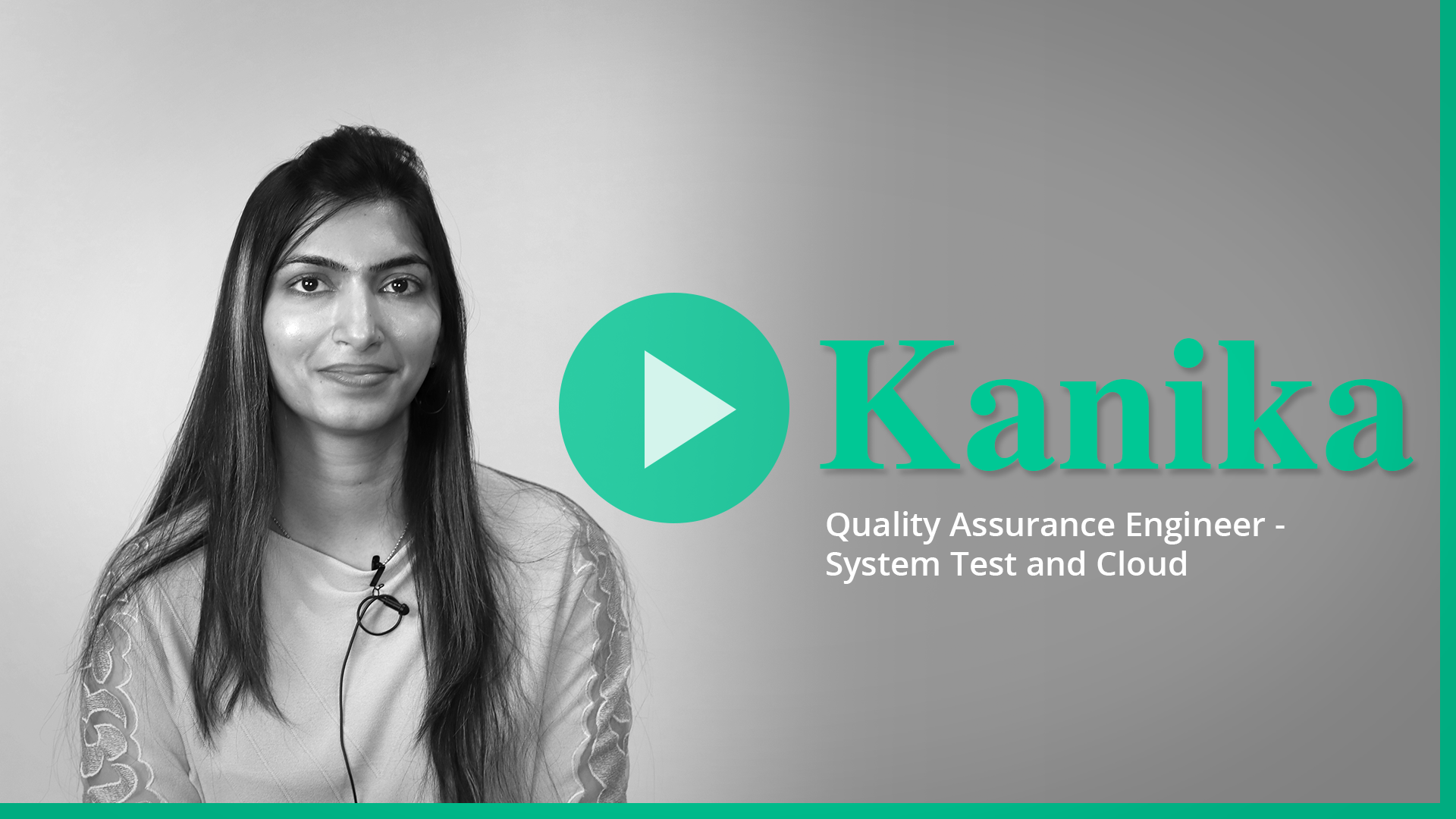 Kanika video for Career page