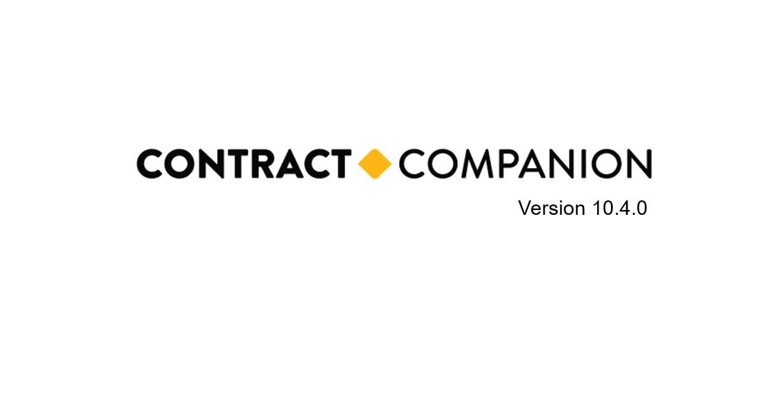 Q3 2019 Contract Companion Update Video