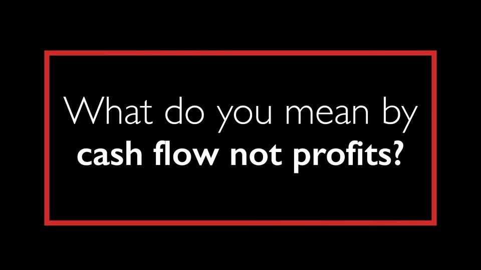 Growth Agent Insight - Cash Flow, not Profits