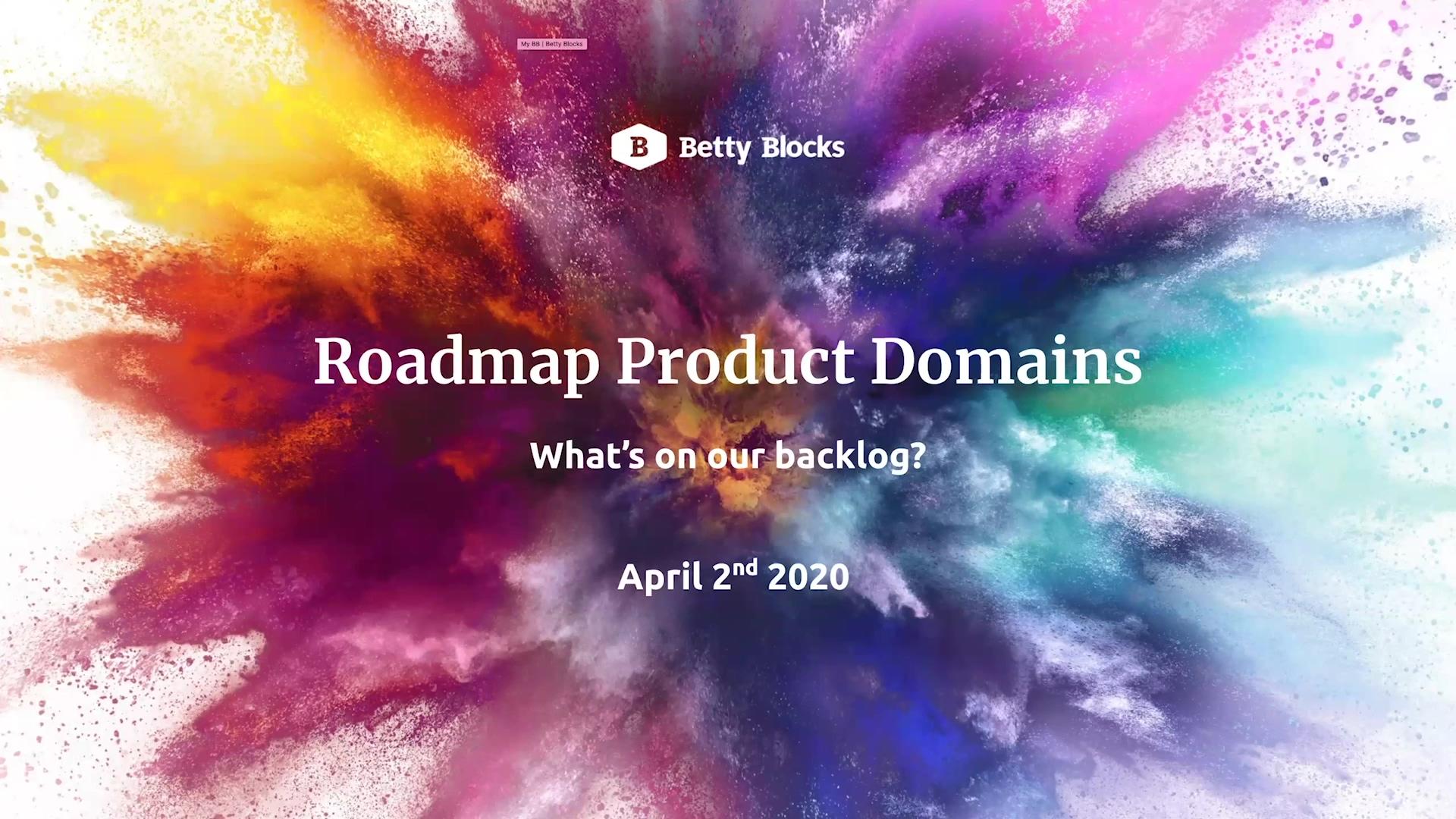 Webinar Roadmap product domains