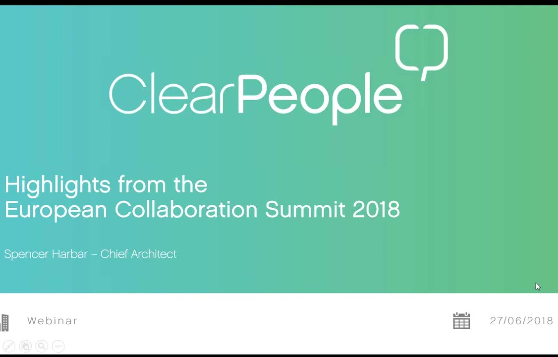 Highlights from the European Collaboration Summit 2018
