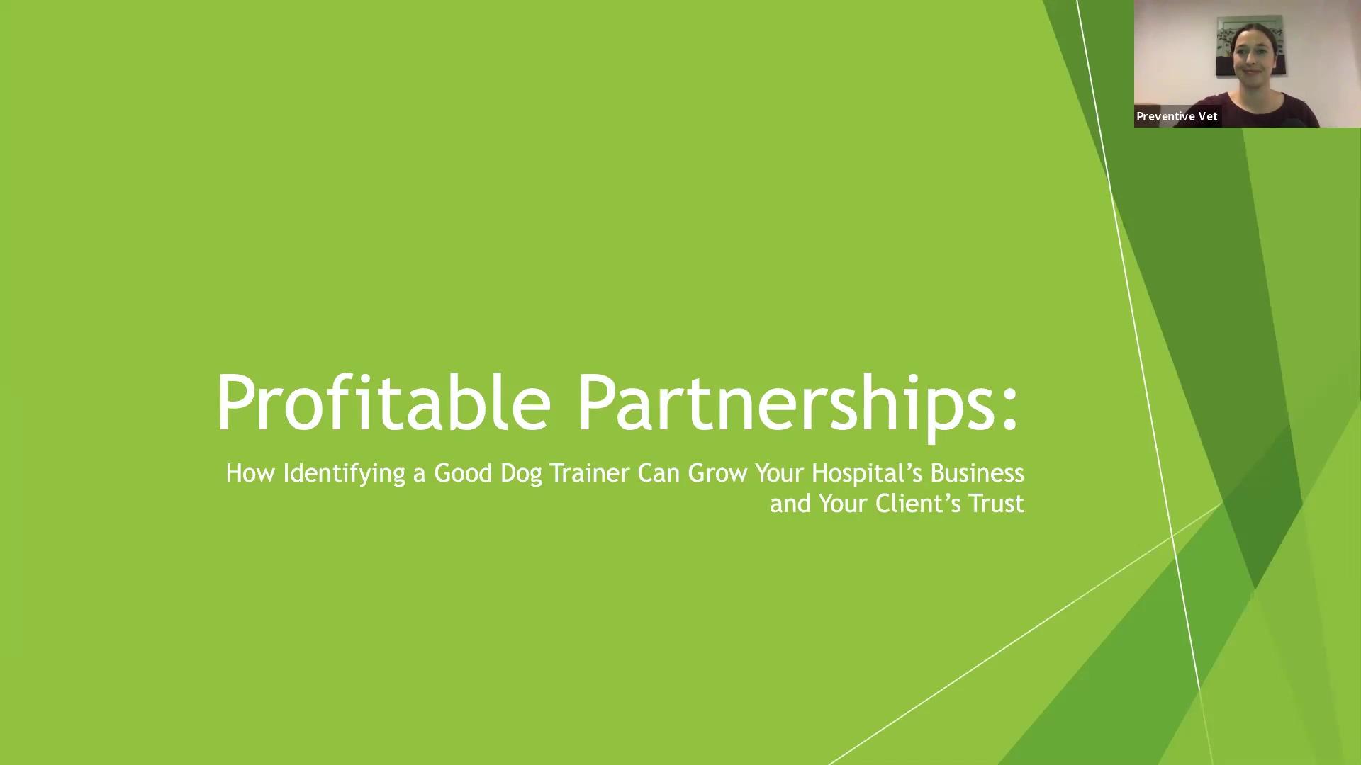 MWI Profitable Partnerships Webinar