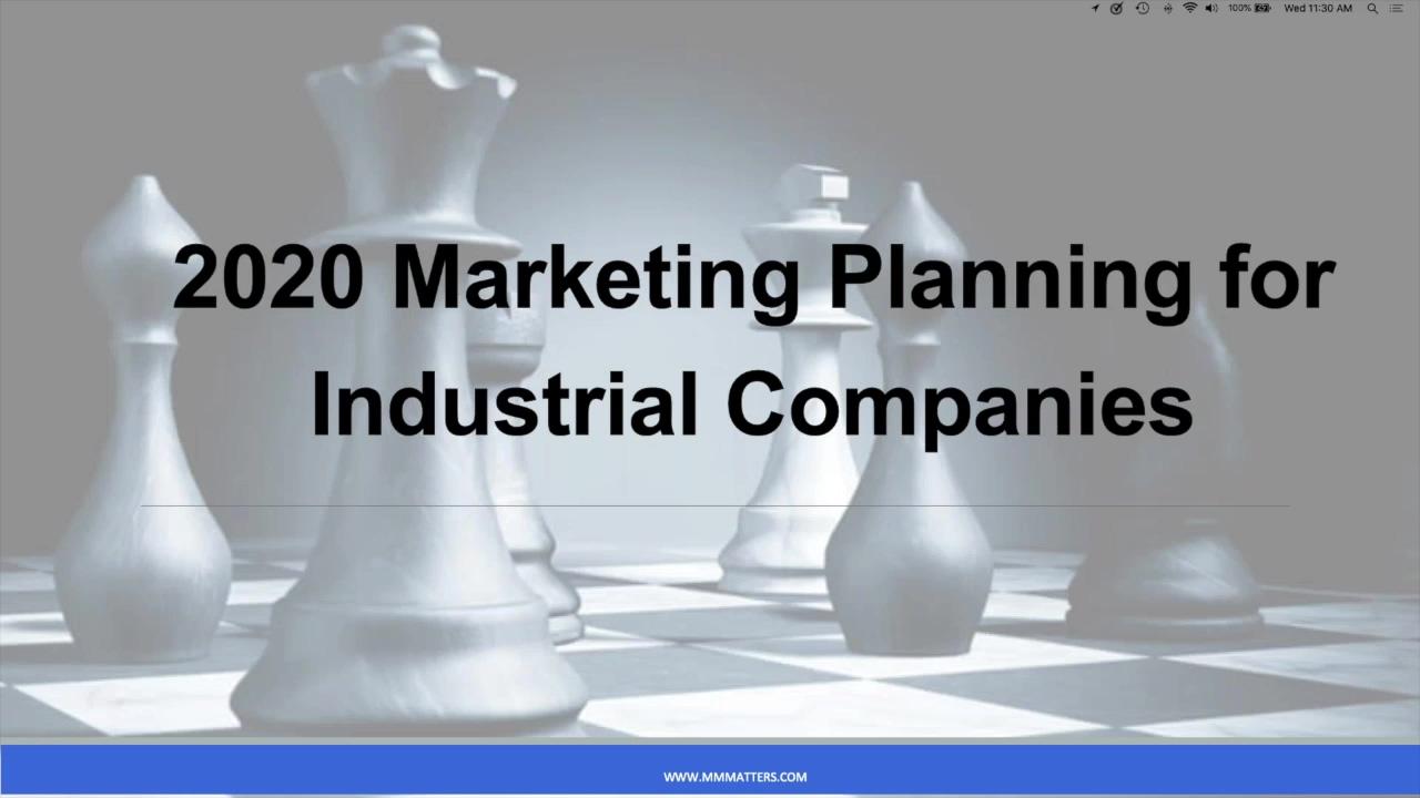 WEBINAR-2020 marketing planning