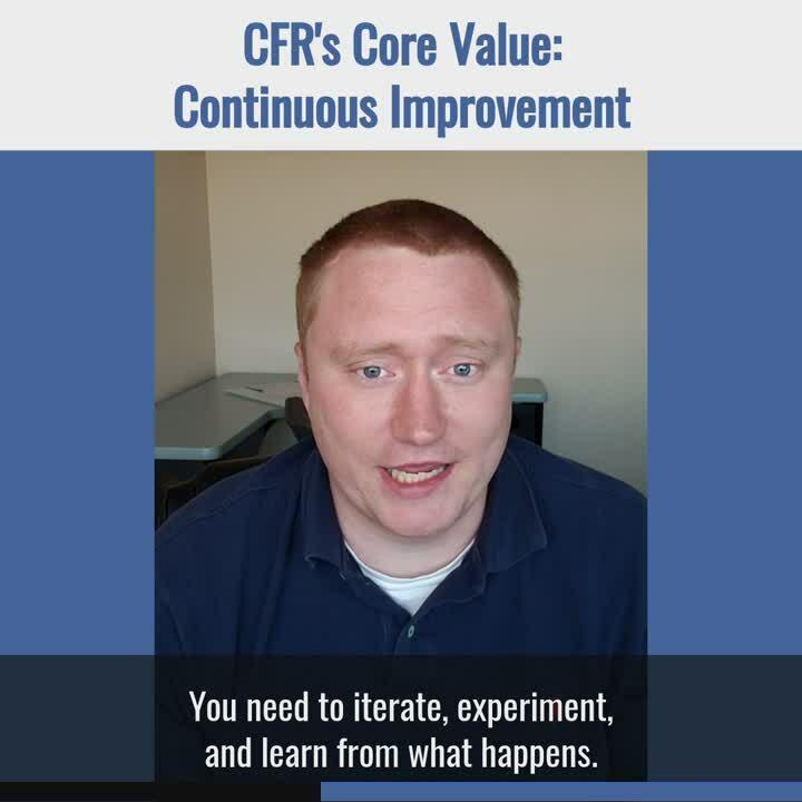 Core Value 1 - Continuous Improvement