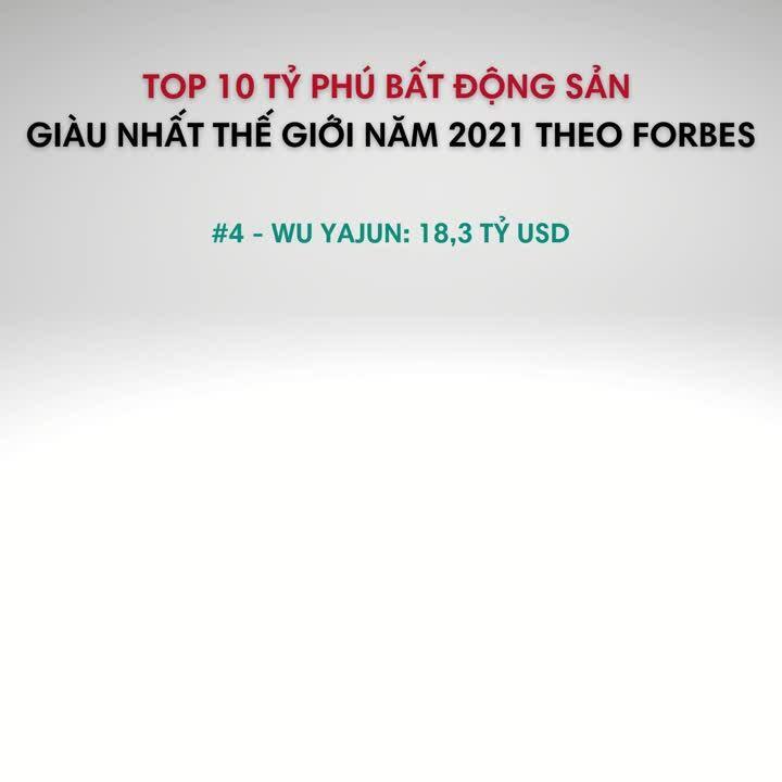 Top 10 tỷ phú bất động sản giàu nhất thế giới năm 2021 theo forbes