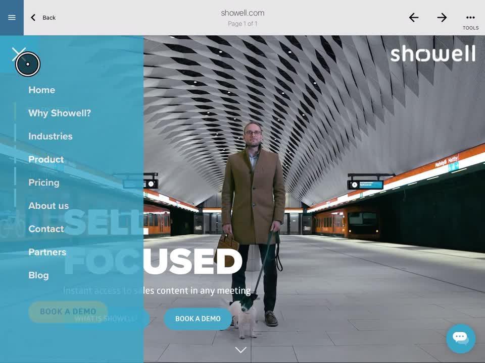 Viewing websites in showell-1