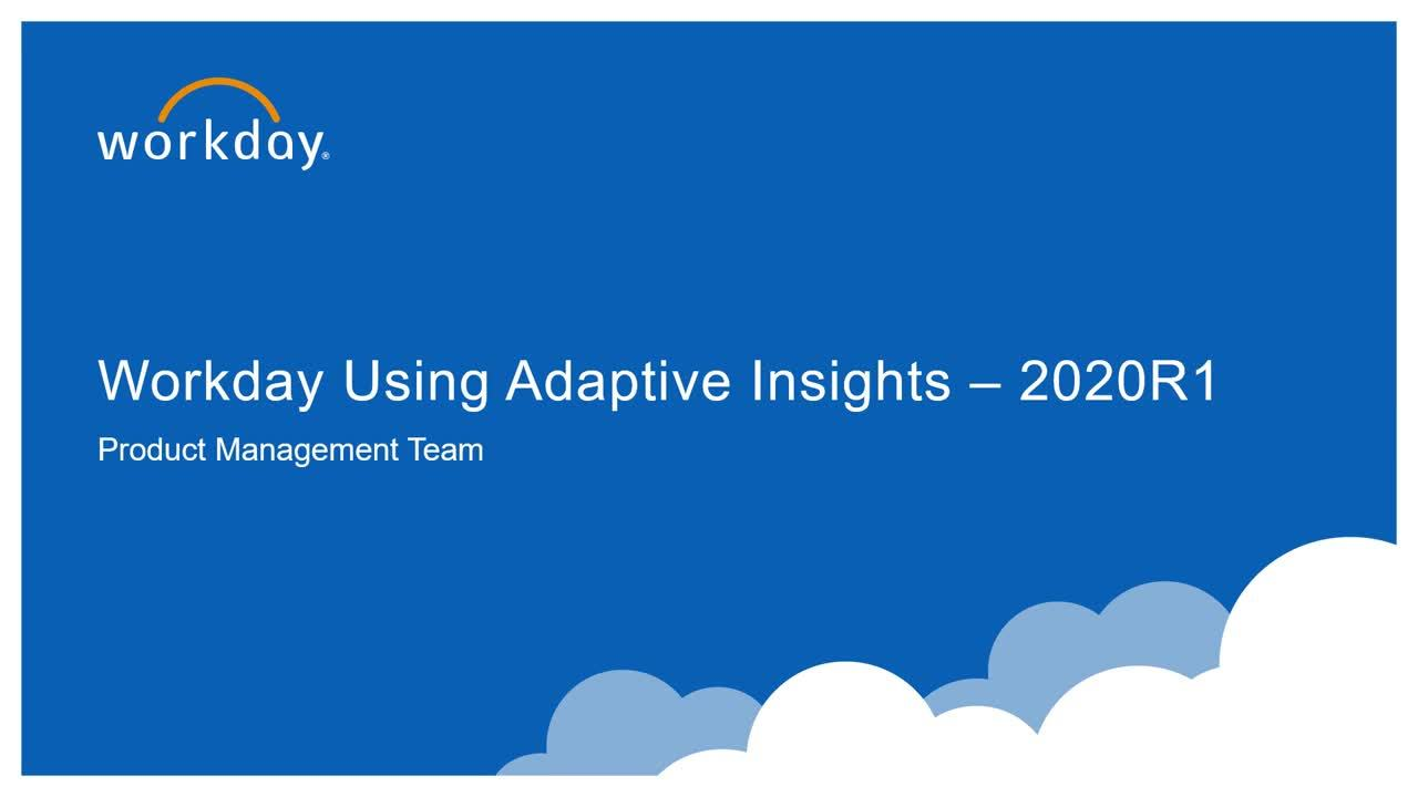 Adaptive Insights Alerts as Workday Notifications - What's New 2020R1