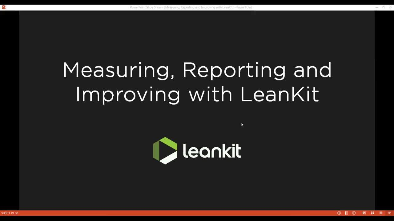 Video: Webinar - Measuring, Reporting and Improving with LeanKit