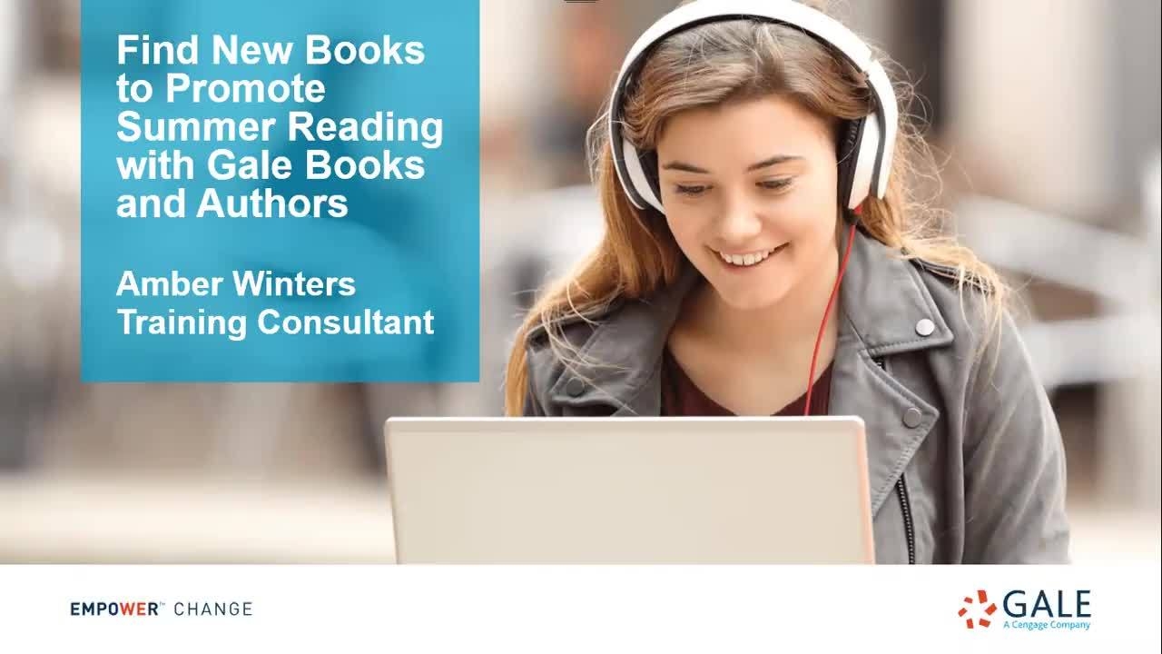 Find New Books to Promote Summer Reading with Gale Books and Authors Thumbnail