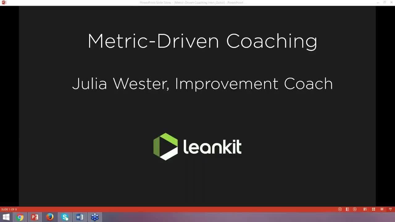 Video: Metric Driven Coaching Webinar