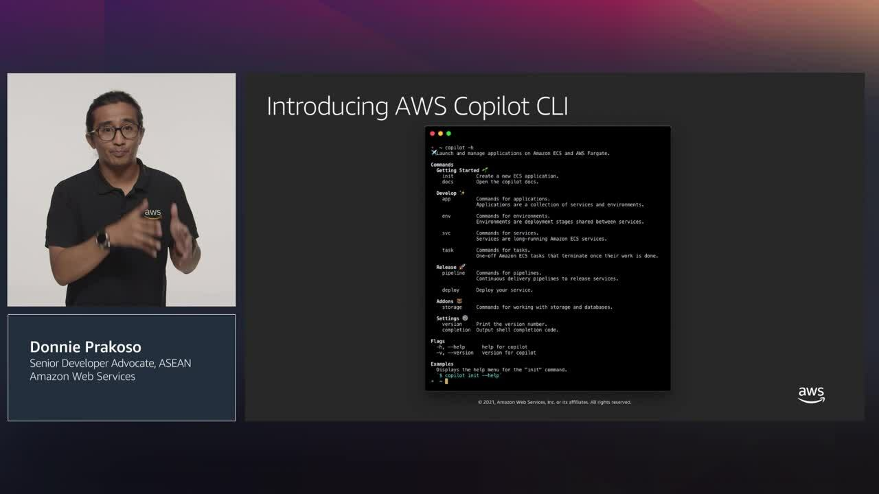 Build and run Docker Apps with AWS CoPilot and Amazon Elastic Container Service