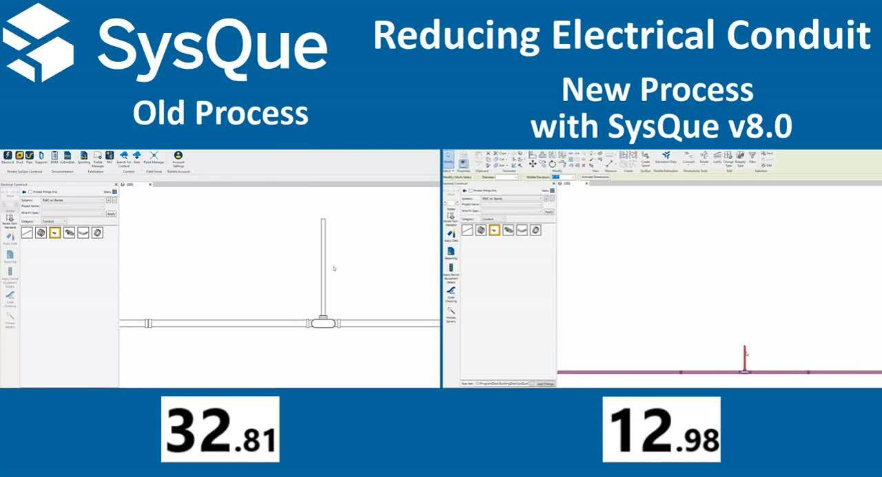 Reduce Electrical Conduit Twice as Fast in Revit with Trimble SysQue v8.0