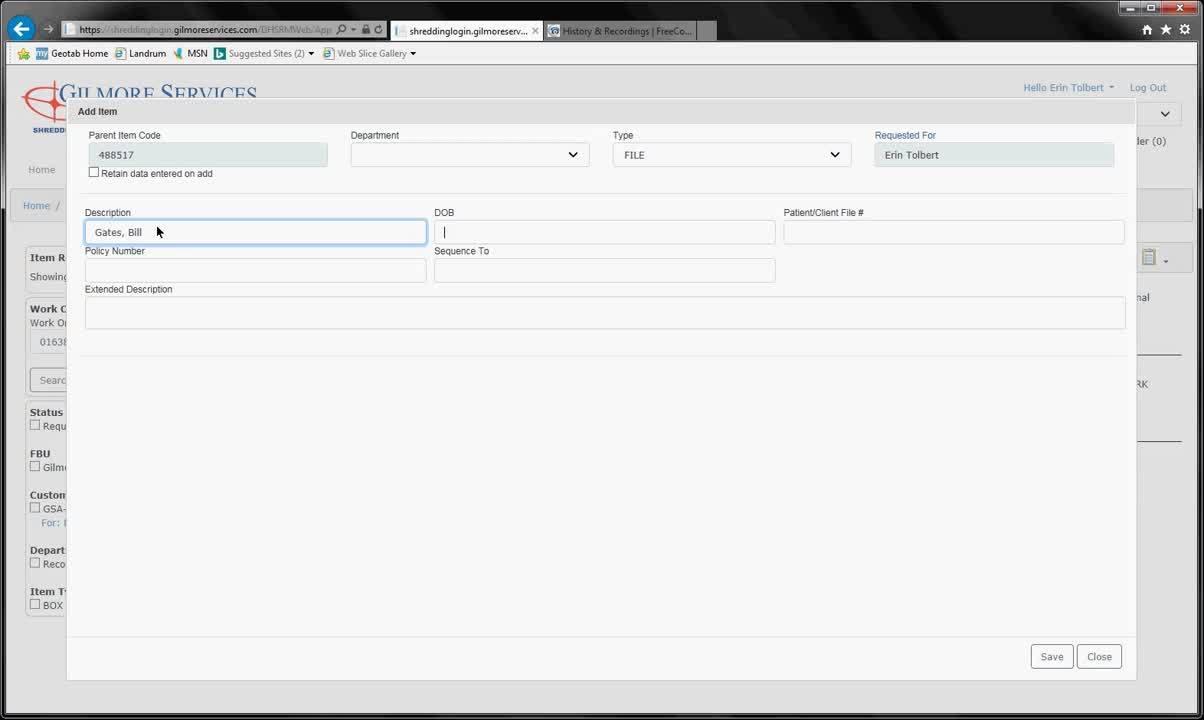 Web Portal_Indexing a Box
