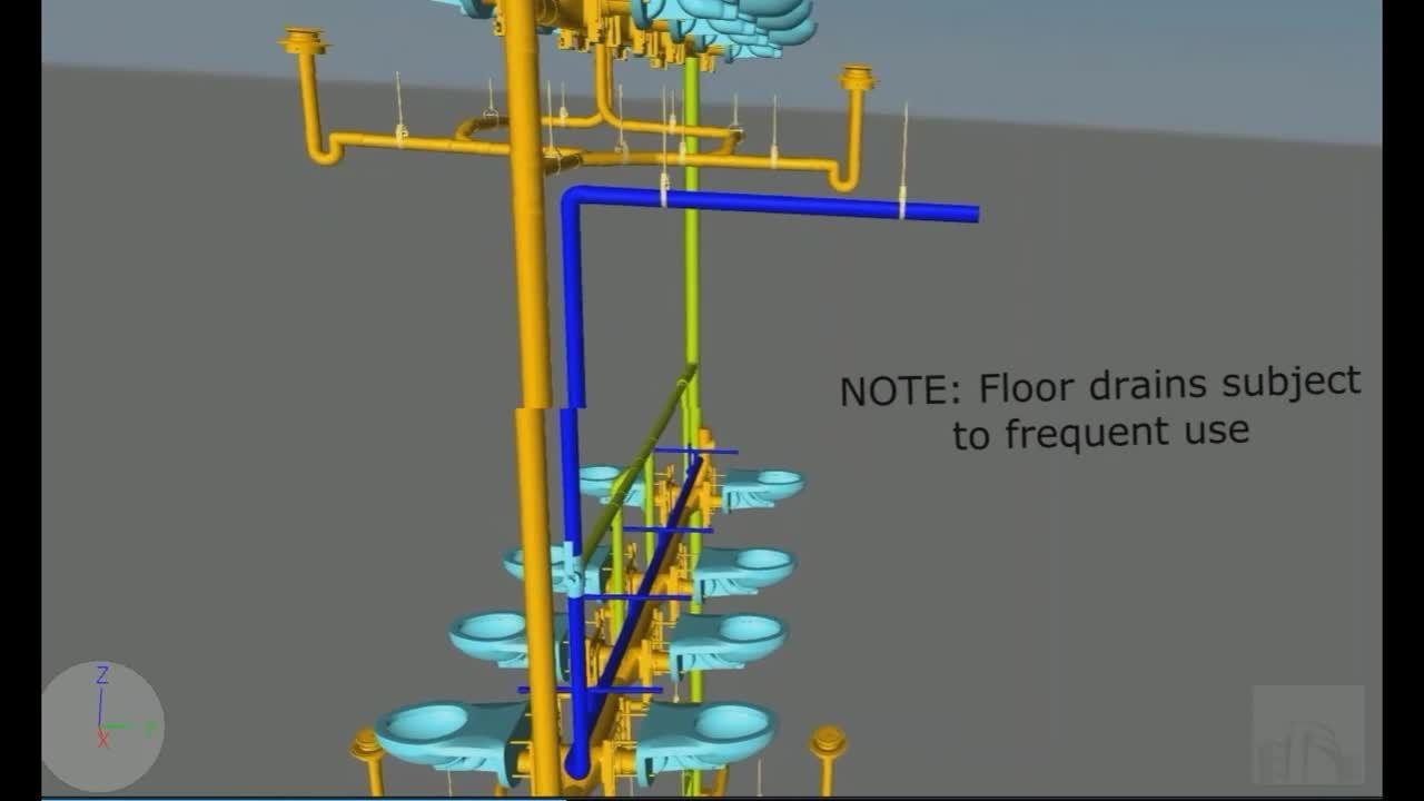 Design Build Back to Back Restroom Plumbing Stack