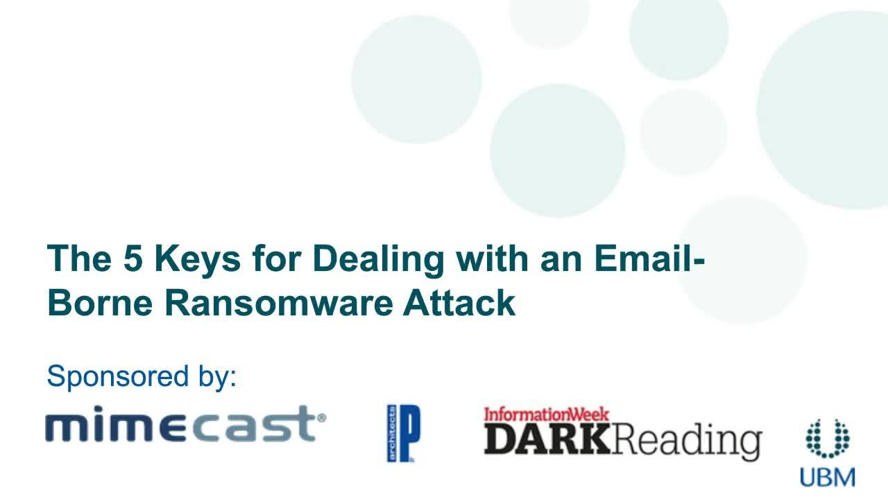 The 5 Keys for Dealing with an Email-Borne Ransomware Attack
