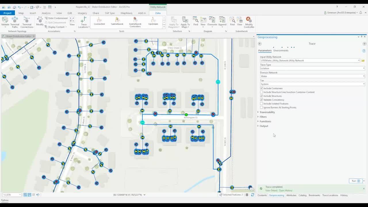 ArcGIS Utility Network Management - Isolation Tracing