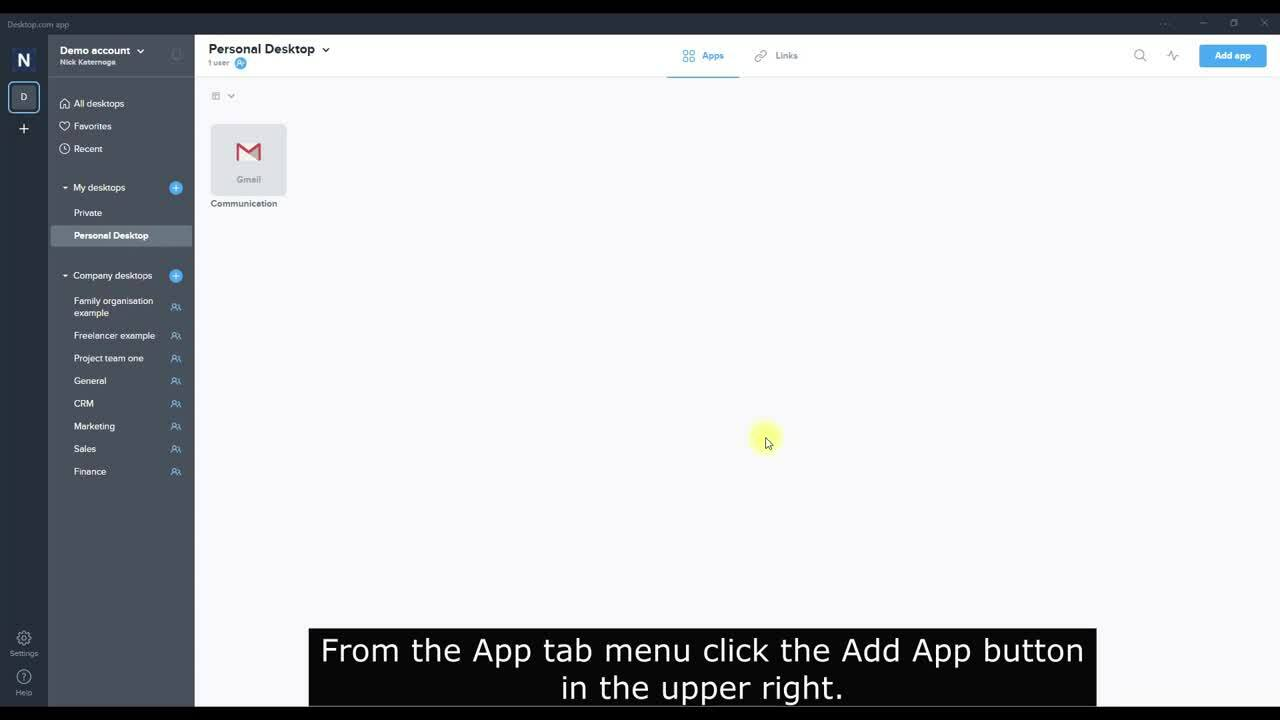How to add an app (with splash screen)