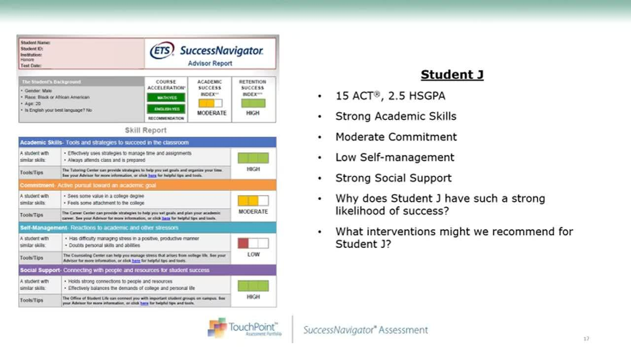 Driving Student Success Holistic Assessment, Placement, and Support