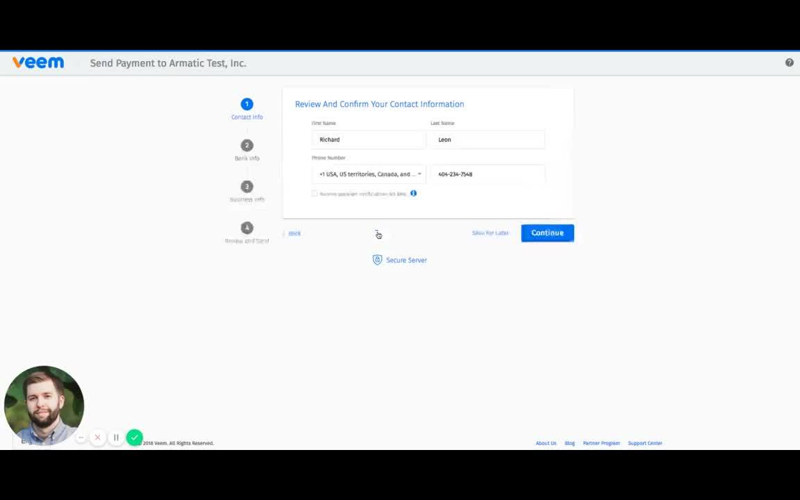 Veem Payment Example