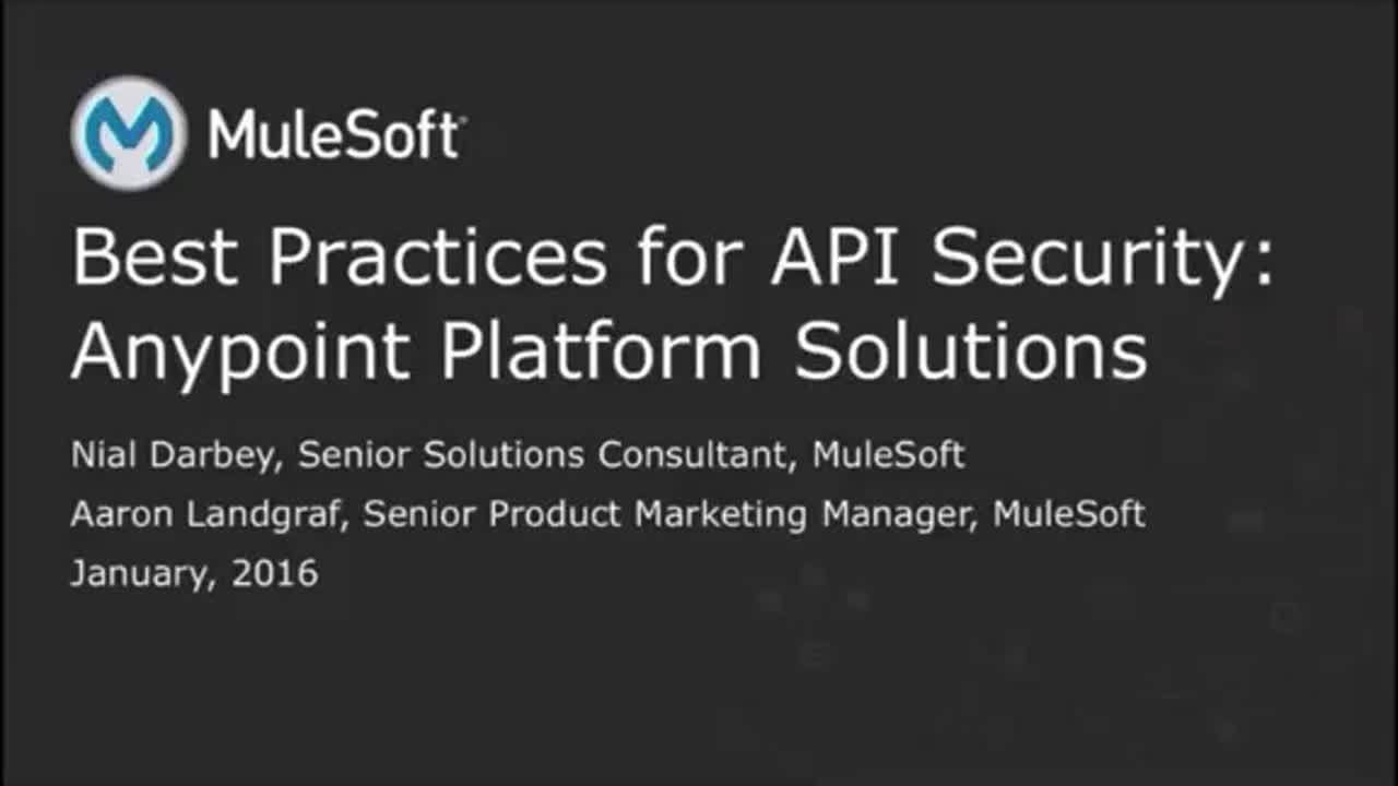 Webinars: API Security Best Practices