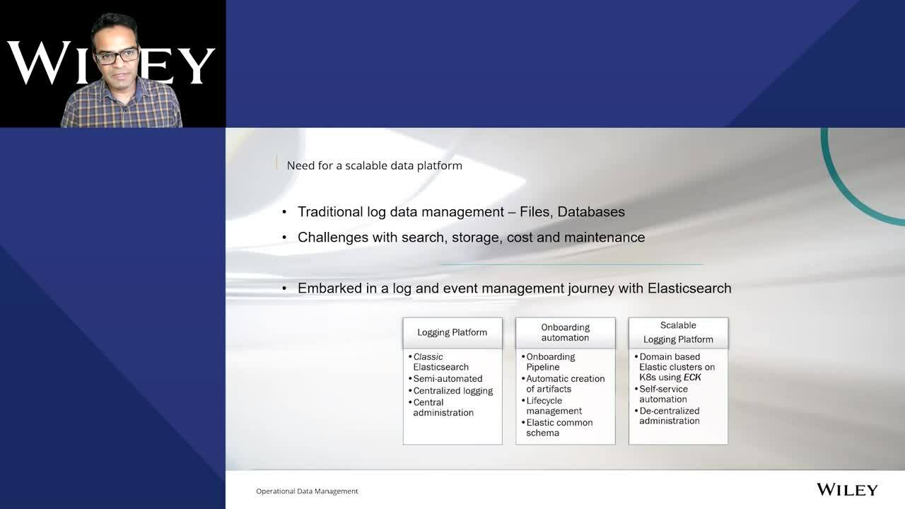 Video for Wiley's Operational Data Management Journey