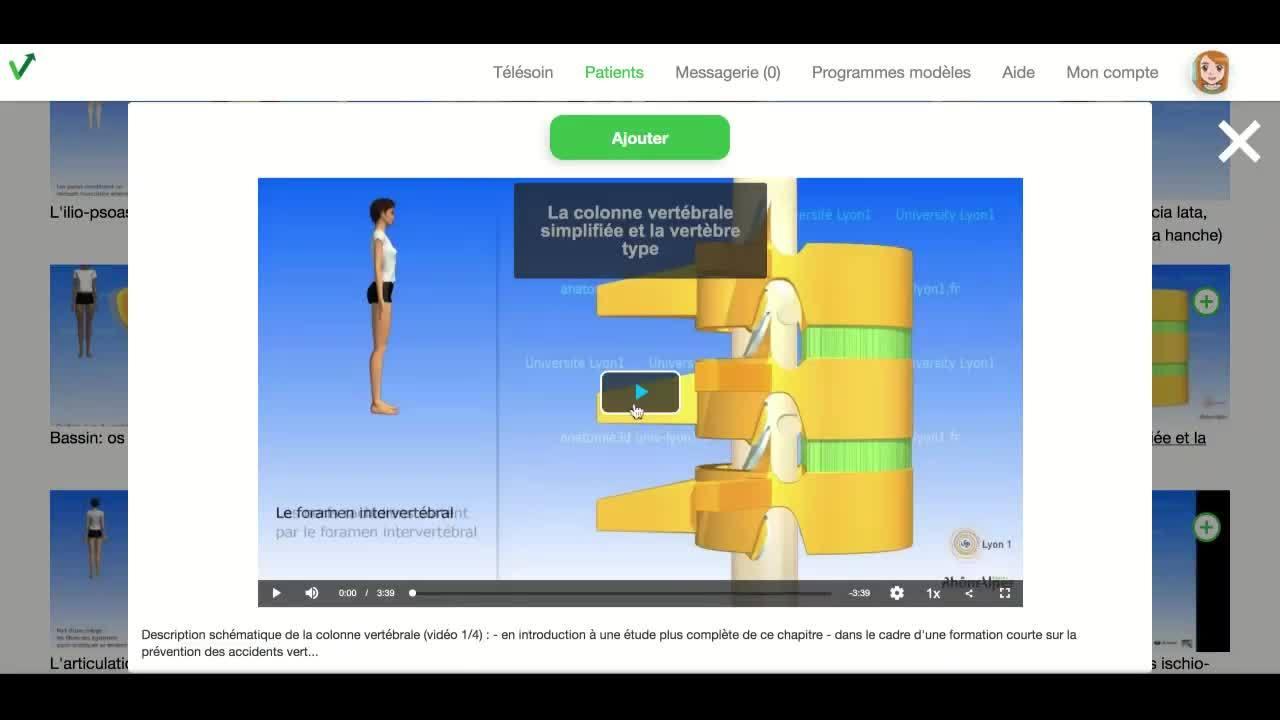 Praticien - ajouter une video educative