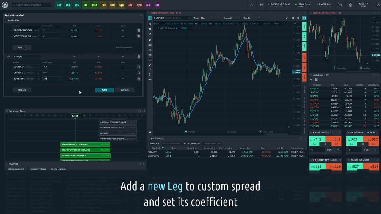 Quantower_Spread Trading - How to create trade synthetics