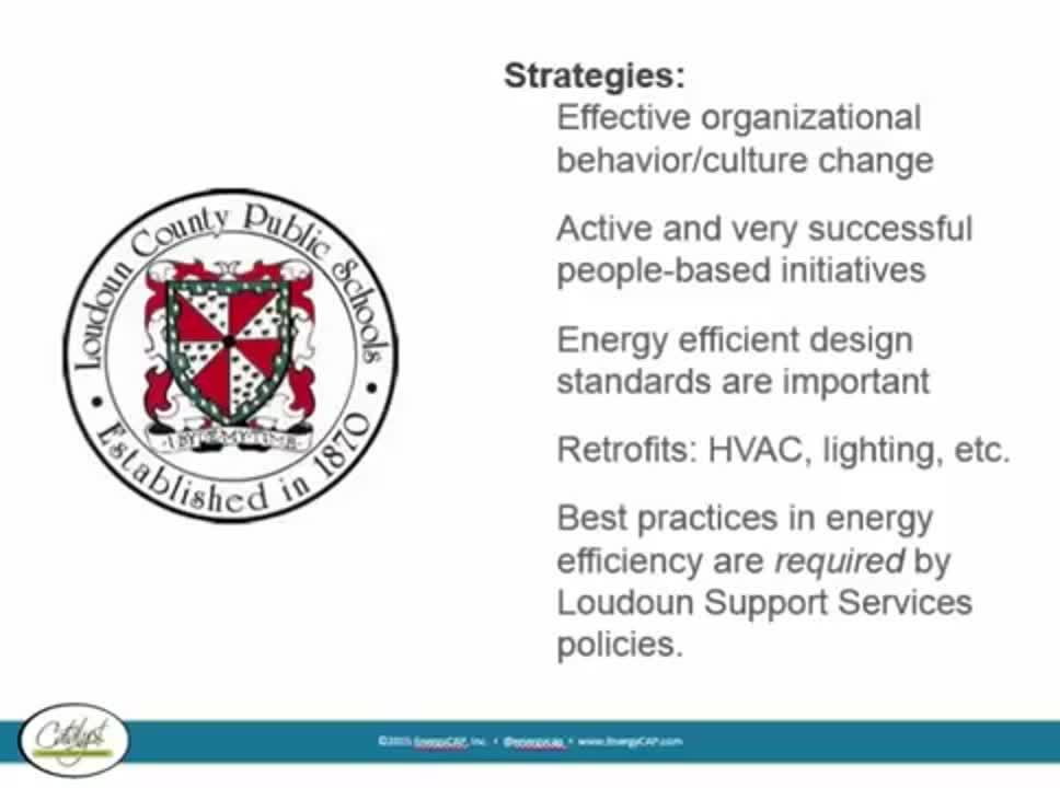 Loudoun County Public Schools27 Energy Management Success