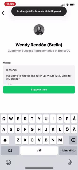 Suggest a meeting without meeting slot