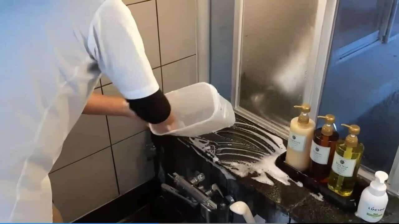 事例・サンプル_動画マニュアル_下部ホテル_風呂掃除
