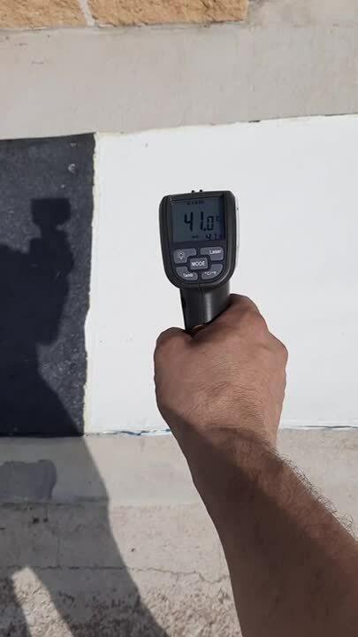 Concepto de reducción de calor en la superficie del material