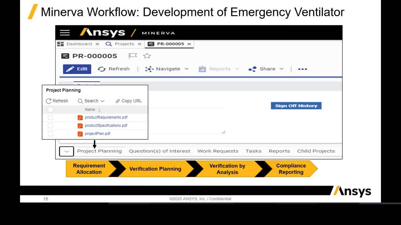 Simulation Process and Data Management for Medical Devices Applications using Ansys Minerva