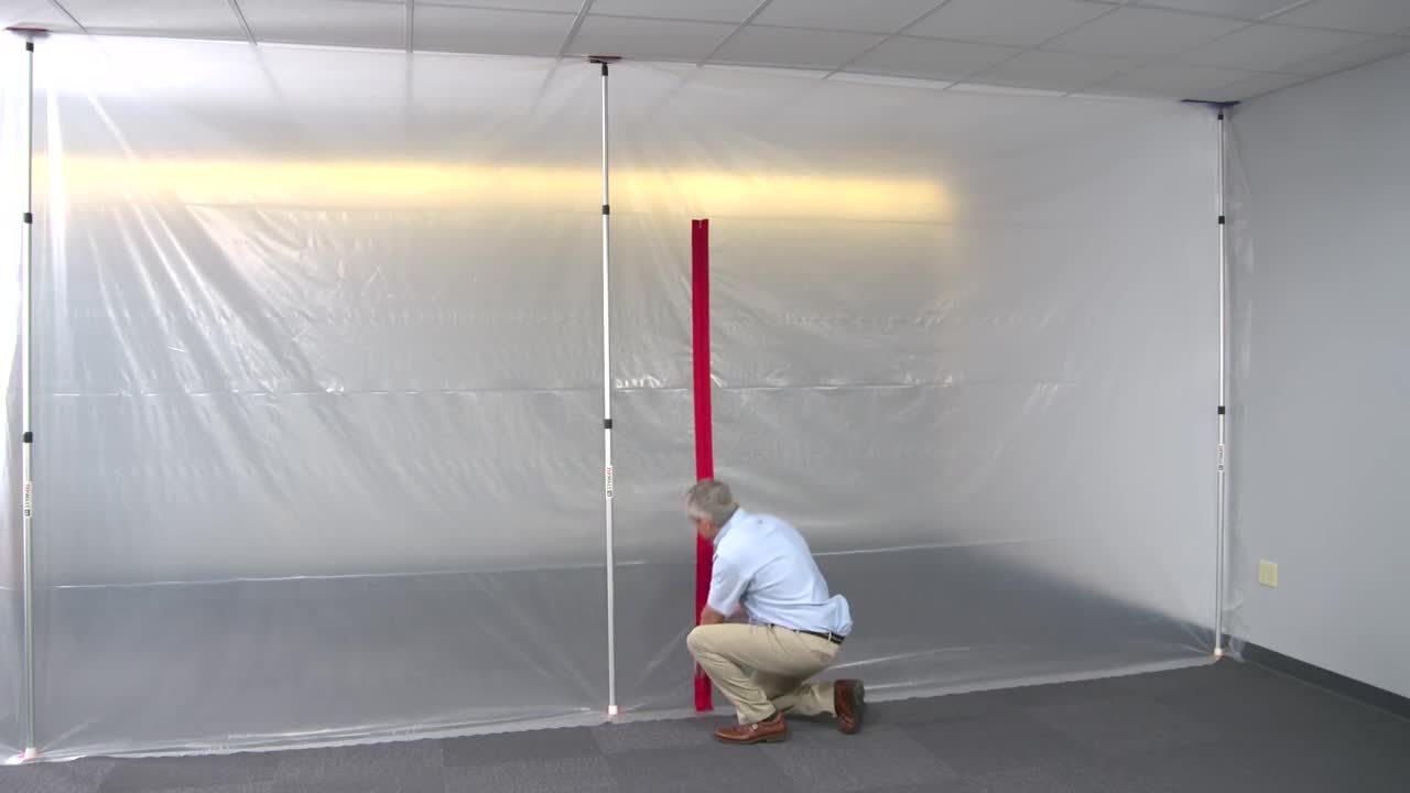 ZipWall Heavy Duty Zipper - Quickly Create a Door in Your Plastic Sheeting Dust Barrier