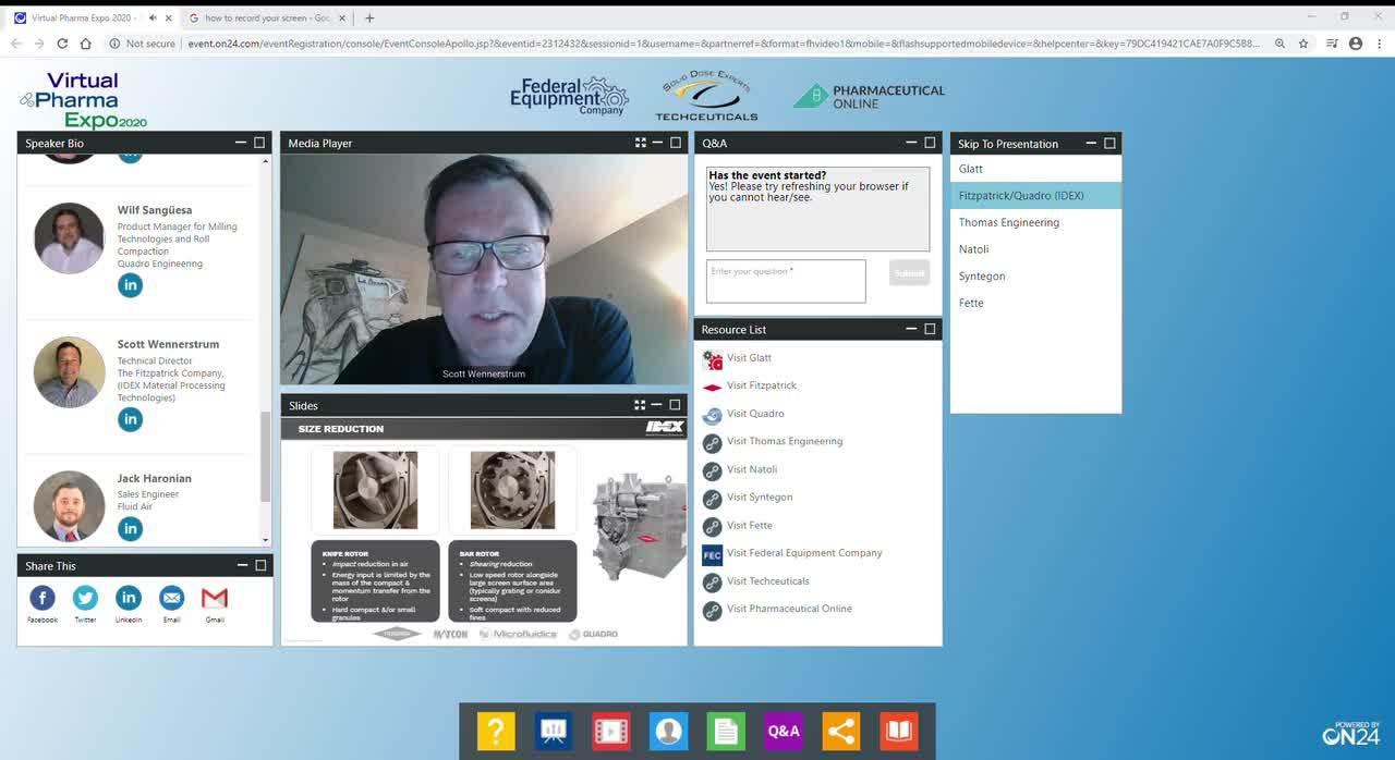 Virtual Pharma Expo 2020 - Compaction Session