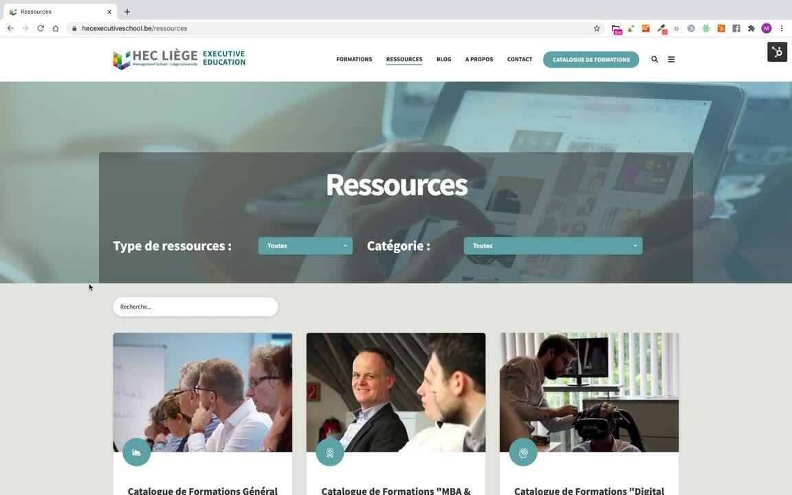 Site web hec
