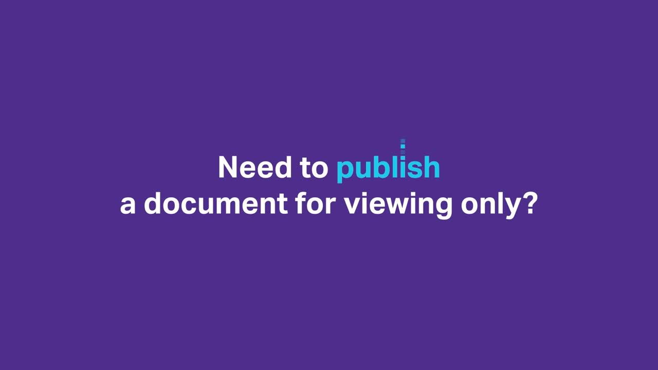Document publishing