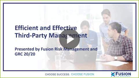 Efficient and Effective Third-Party Management - with Michael Rasmussen
