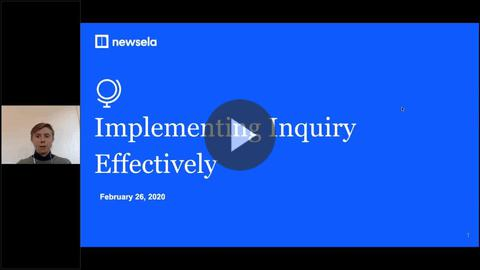 Implementing Inquiry Effectively