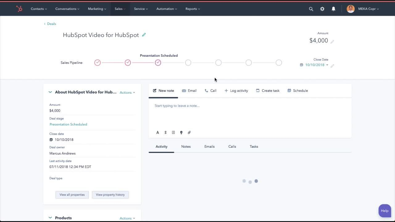 FINAL HubSpot Video into and SALES demo