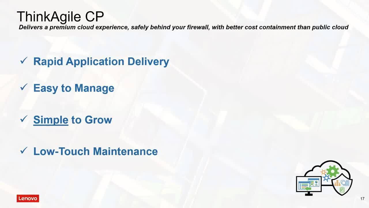 Webinaire Lenovo ThinkAgile CP
