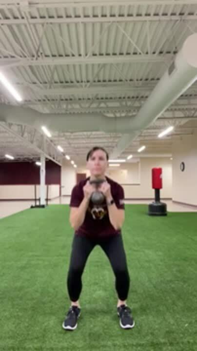 Goblet squat kettlebell