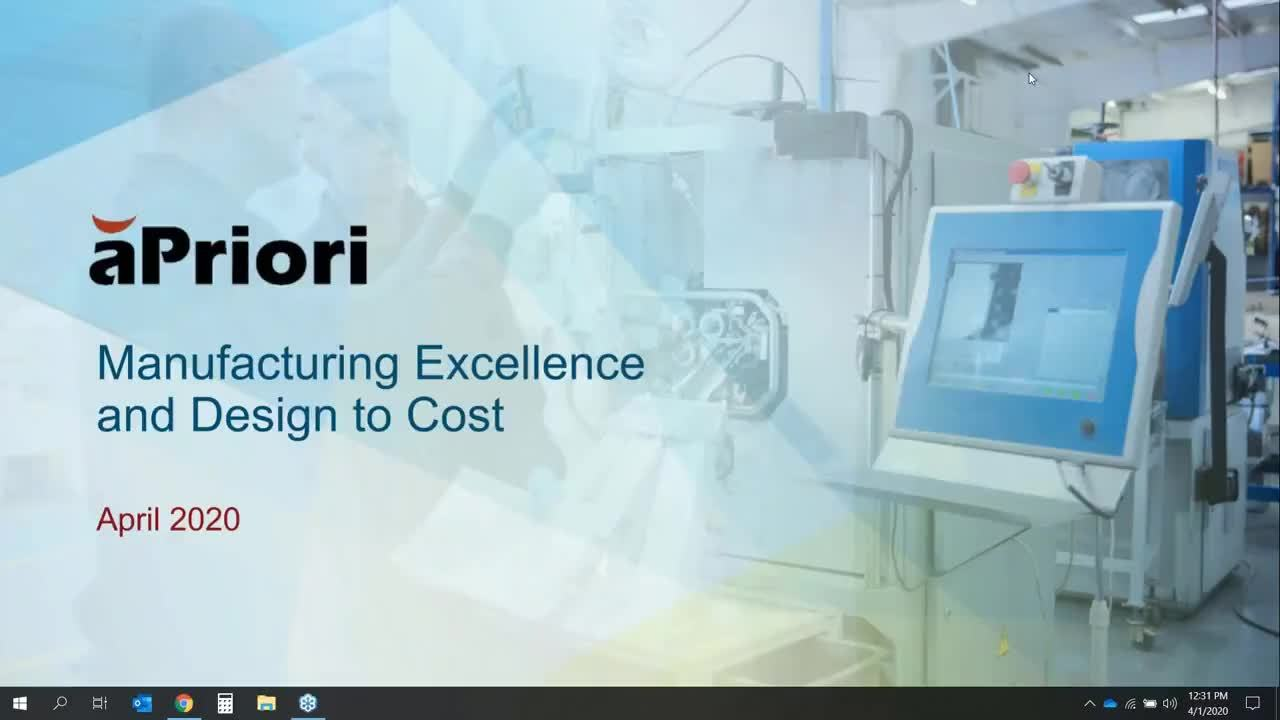 Lunch and Learn: Manufacturing Excellence and Design to Cost