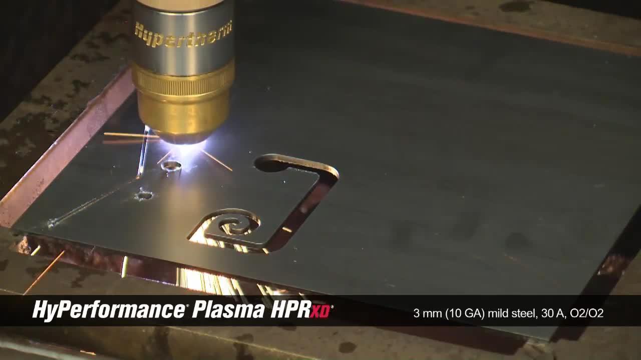 HPRXD 3mm (10 GA) mild steel