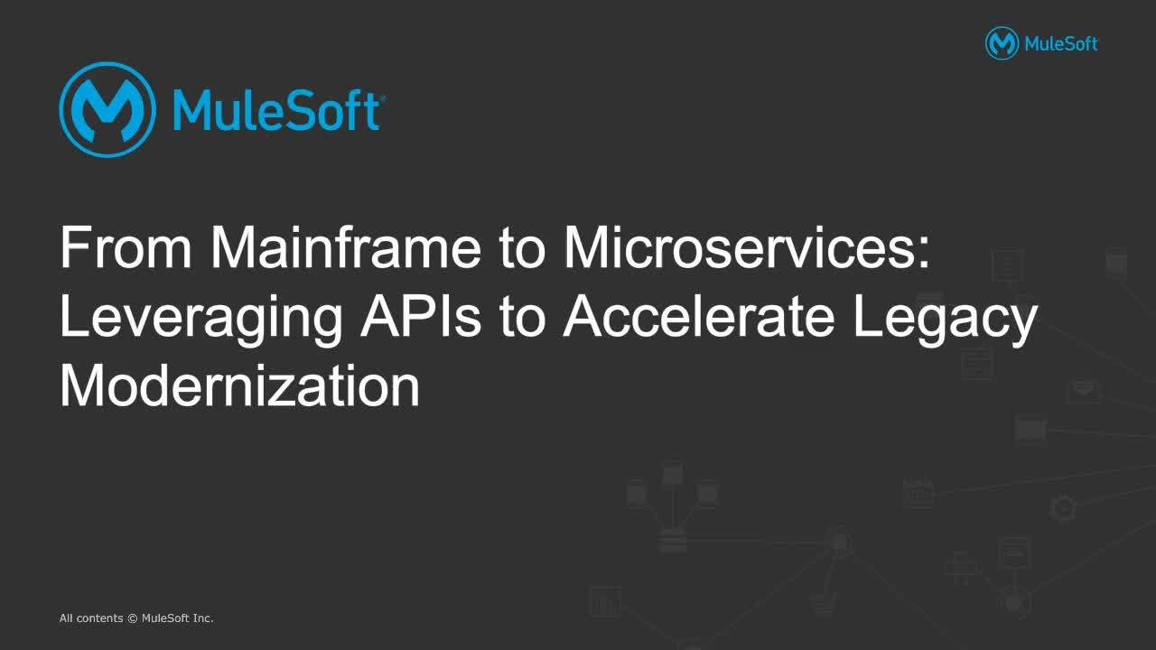 Webinar: From mainframe to microservices: modernizing with APIs