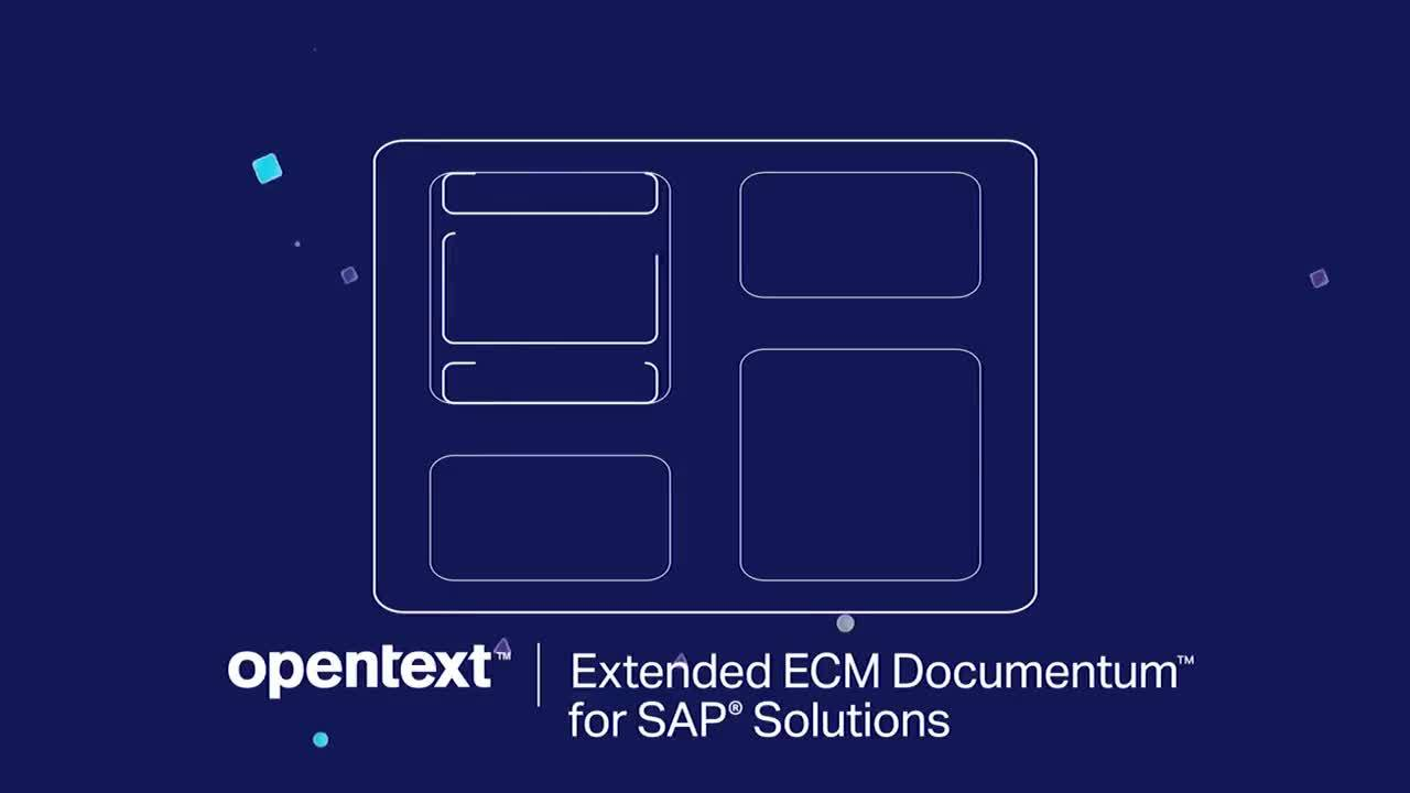 Introduction to OpenText™ Extended ECM Documentum for SAP® Solutions