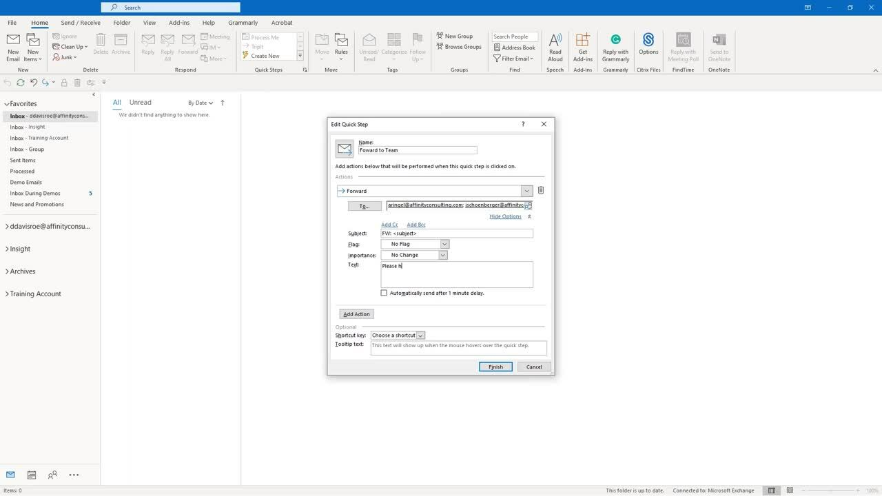 2021.01 Outlook Quick Steps